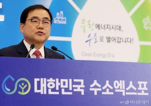[사진]수소엑스포 참석한 허성무 창원시장