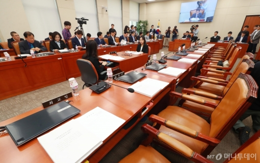 [사진]자유한국당 불참한 기획재정위원회