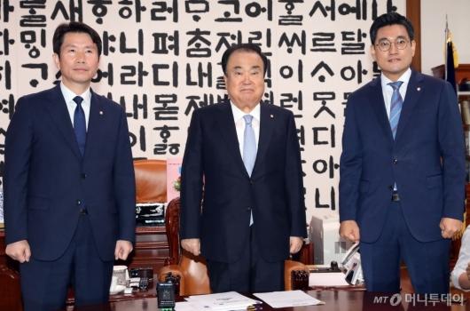 [사진]문희상, 자유한국당 제외한 교섭단체 원내대표 회동