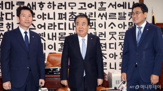 [사진]회동 갖는 국회의장과 여야 원내대표