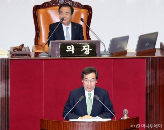 [사진]이낙연 총리, 국회 시정연설
