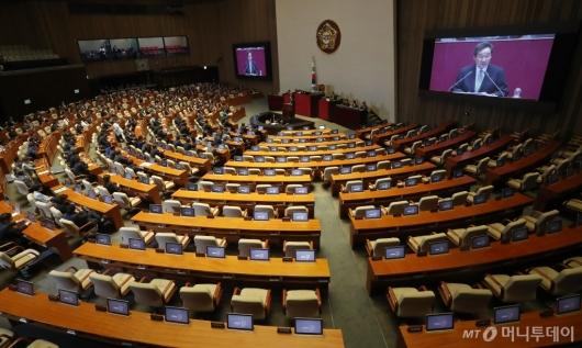 [사진]자유한국당 국회 본회의 불참