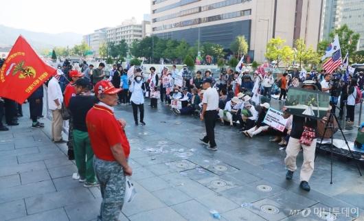 [사진]대한애국당 농성천막 행정대집행