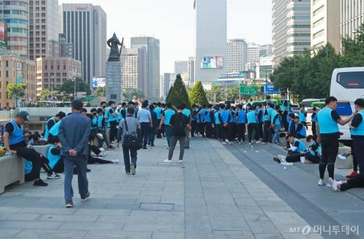 [사진]서울시, 대한애국당 농성천막 행정대집행