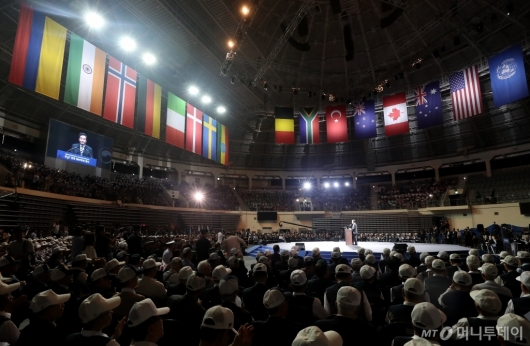 [사진]6.25 전쟁 69주년 기념식 국무총리 연설