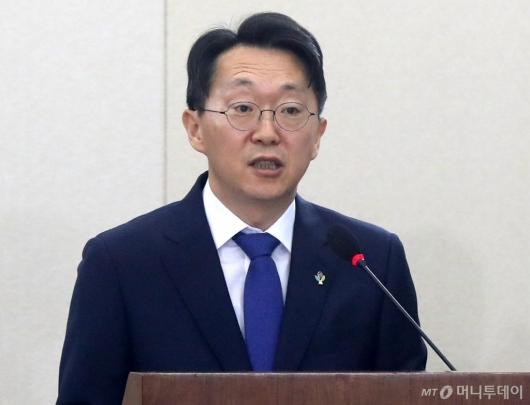 [사진]청문회 발언하는 김현준 후보자