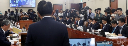 [사진]자유한국당 참석한 청문회