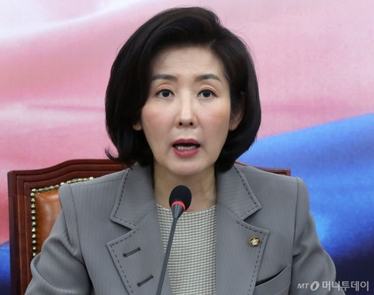[사진]중진의원 연석회의 발언하는 나경원