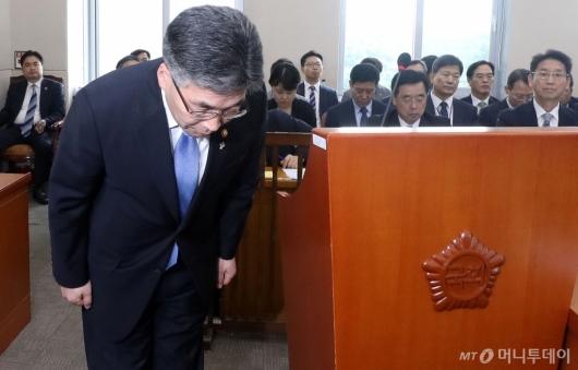 [사진]국회 행안위 참석한 경찰청장