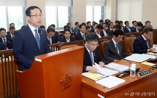 [사진]정문호 소방청장, 국회 행안위 현안보고