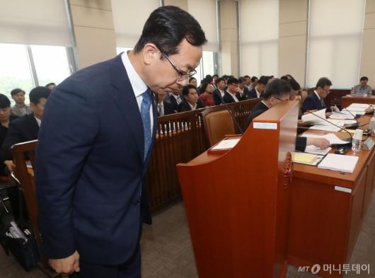 [사진]국회 행안위 참석한 소방청장