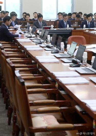 [사진]자유한국당, 행안위 불참