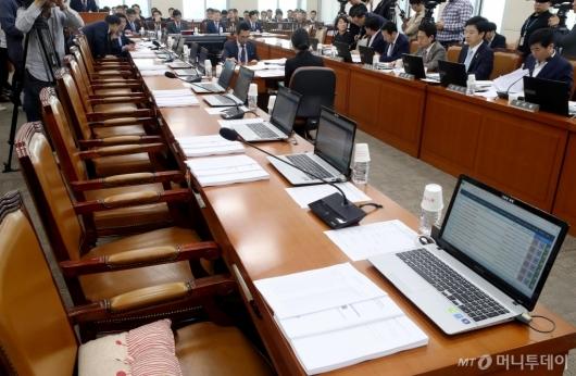 [사진]행안위 전체회의, 자유한국당의 빈자리