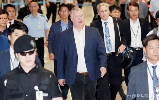 [사진]입국하는 스티븐 비건 美 대북정책특별대표