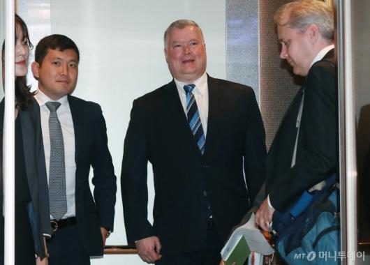 [사진]외교부 찾은 스티븐 비건 미국무부 대북정책특별대표