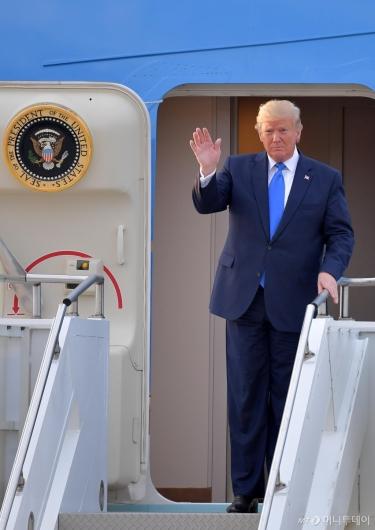 [사진]트럼프 美 대통령 방한