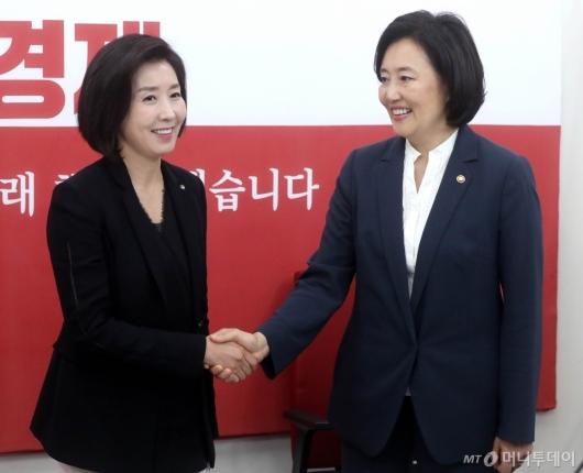 [사진]나경원-박영선 면담