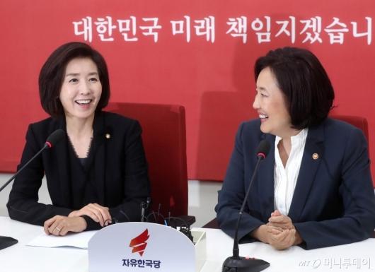 [사진]나경원-박영선, 웃음 가득