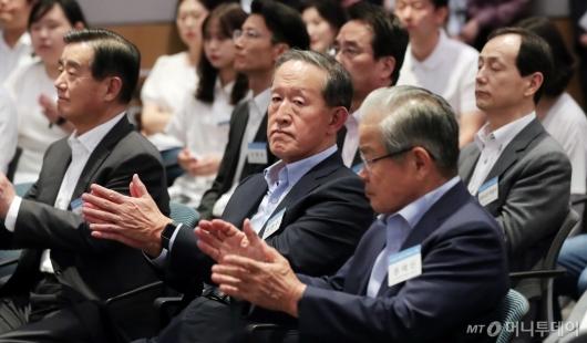 [사진]'K-Move 스쿨 일본취업연수 발대식' 참석한 허창수 회장