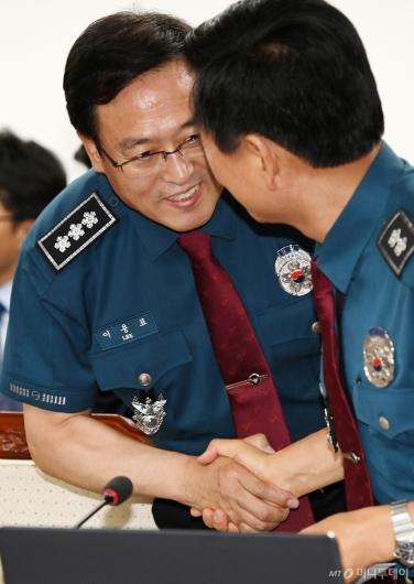 [사진]전국지휘부회의 참석한 이용표 신임 서울지방경찰청장