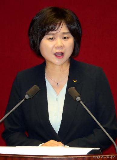[사진]이정미 비교섭단체 대표연설