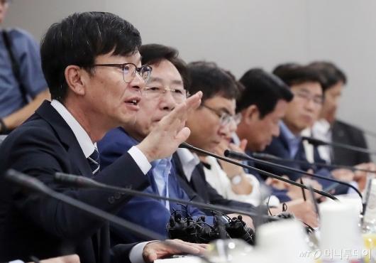 [사진]모두발언 하는 김상조 정책실장