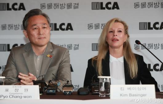 [사진]동물권 보호 위해 방한한 킴 베이싱어