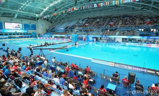 [사진]경기 준비중인 광주세계수영선수권대회