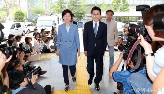 [사진]백혜련-윤소하, '패스트트랙 고발사건' 경찰 출석