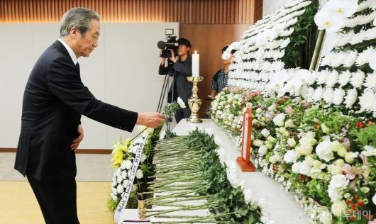 [사진]조문하는 정몽준 이사장