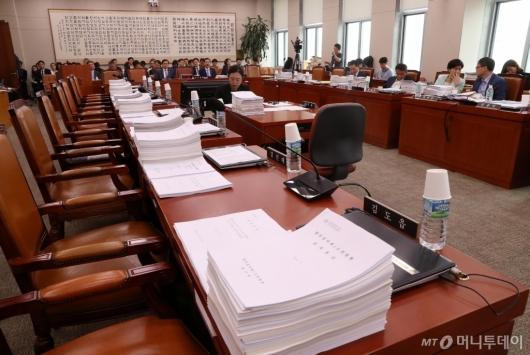 [사진]파행된 법사위 전체회의