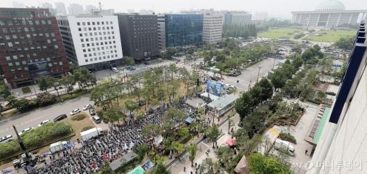 [사진]국회 앞에 모인 민주노총
