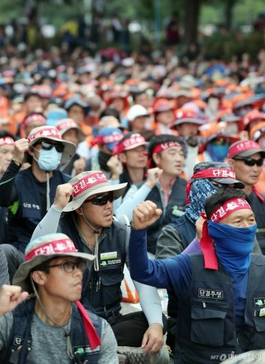 [사진]'최저임금 공약 폐기 규탄'