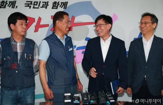 [사진]한국노총 방문한 김상조 정책실장