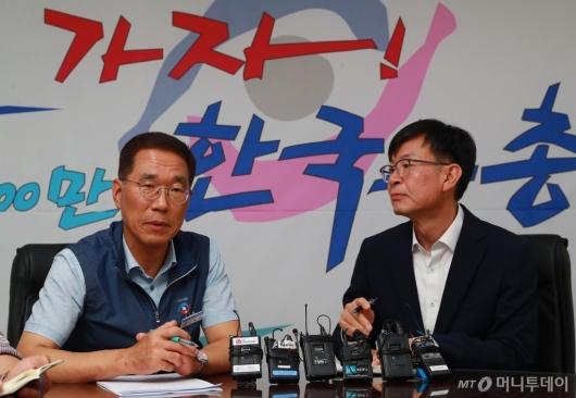 [사진]노동계 달래기 나선 김상조 청와대 정책실장