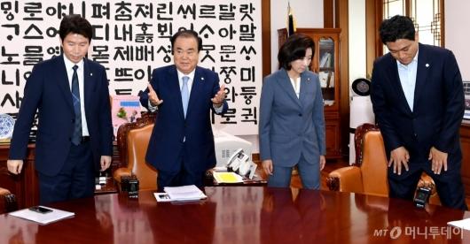 [사진]심각한 교섭단체 원내대표들