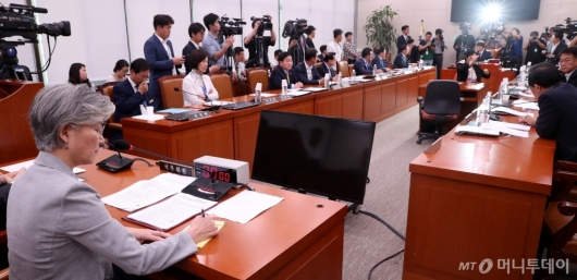 [사진]국회 외통위, 일본 수출규제 철회 촉구 결의안 채택