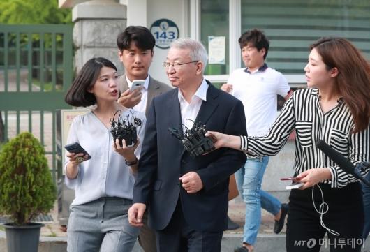 [사진]보석으로 풀려난 양승태 전 대법원장