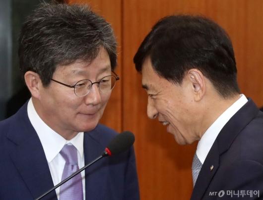 [사진]대화하는 이주열-유승민