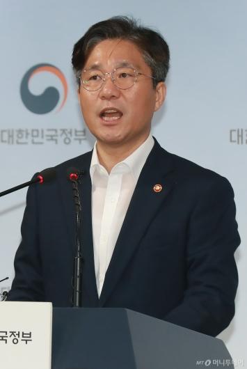 """[사진]성윤모 장관 """"日정부, 한국 수출통제 제도 이해 부족"""""""