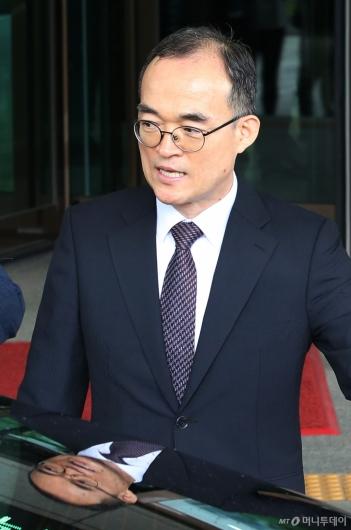 [사진]검찰청 떠나는 문무일 전 총장