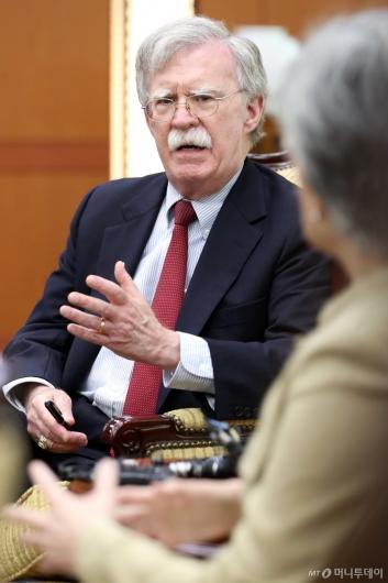 [사진]발언하는 존 볼턴 미국 국가안보회의 보좌관