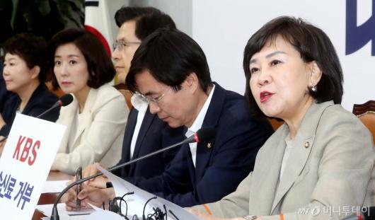 [사진]최고위원회의 발언하는 김순례