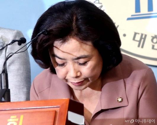[사진]박순자, 그늘진 얼굴
