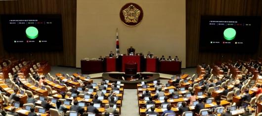 [사진]국회, 일본 수출규제 철회 결의안 통과