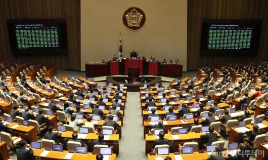 [사진]일본 수출규제 철회 결의안 국회 본회의 통과