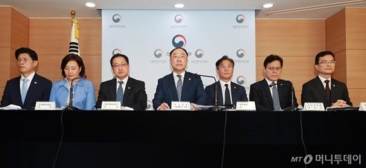 [사진]日 백색국가 배제 관련 관계부처 장관 브리핑