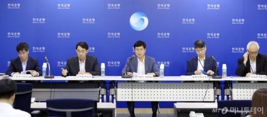 [사진]한국은행, 통화신용 정책보고서 기자설명회