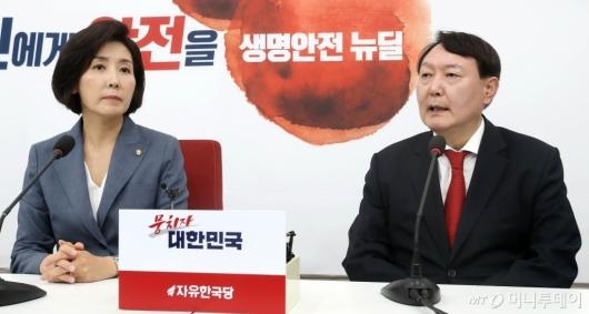 [사진]나경원 예방한 윤석열