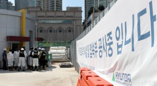 [사진]공사 중지된 목동 빗물 펌프장